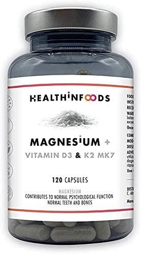 vitamina d3 + magnesio + k2 de Health in foods