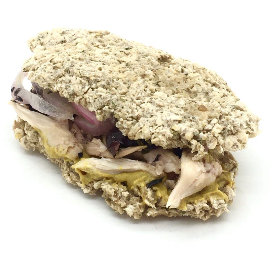 bocadillo de avena con pollo