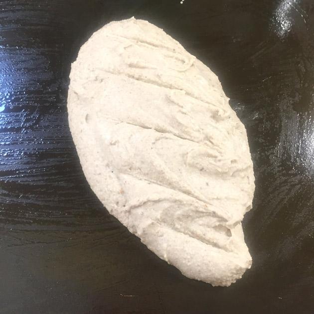 pan baguette de sarraceno sin hornear