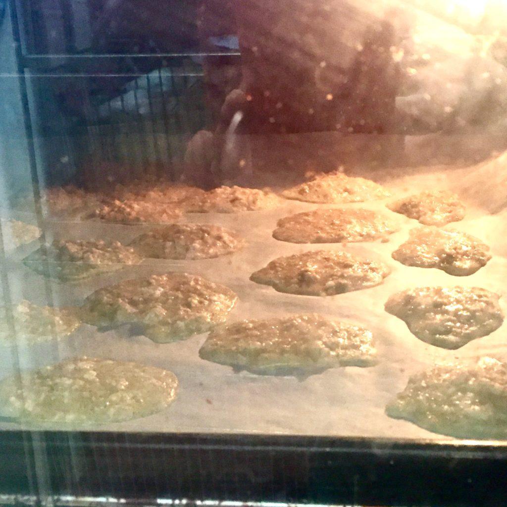 galletas en el horno