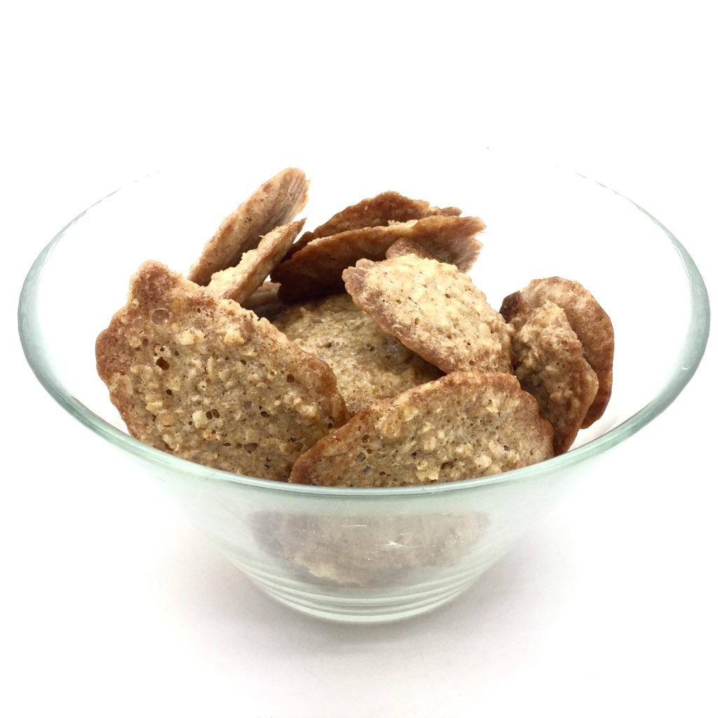 galletas de avena en recipiente de cristal
