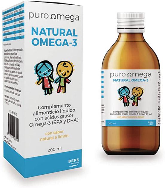 natural omega 3 en jarabe de puro omega