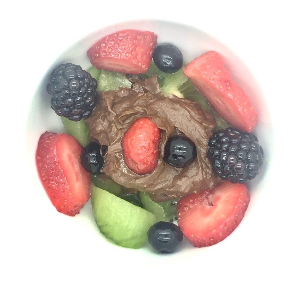 crema cacao con frutas