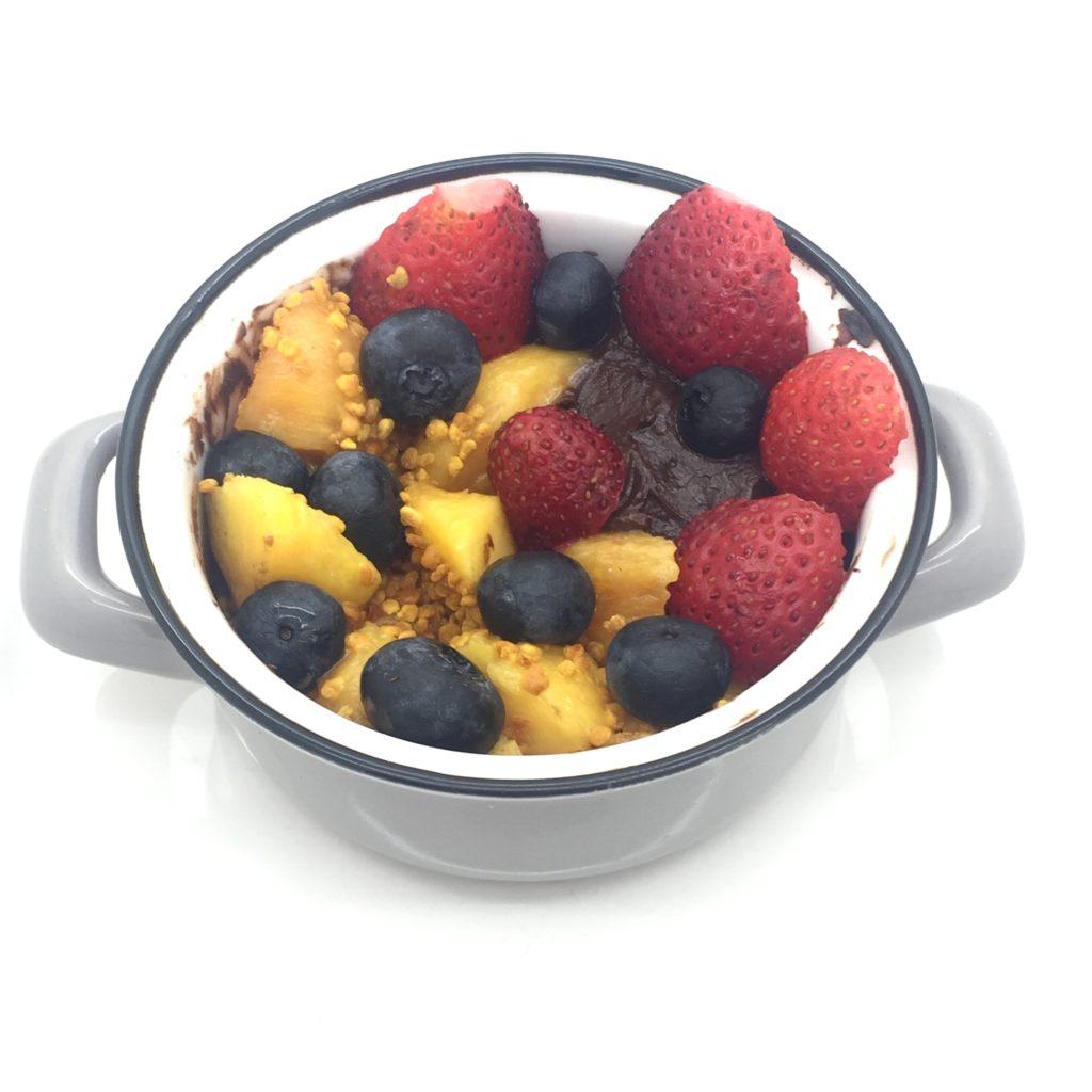 frutas con nocilla saludable