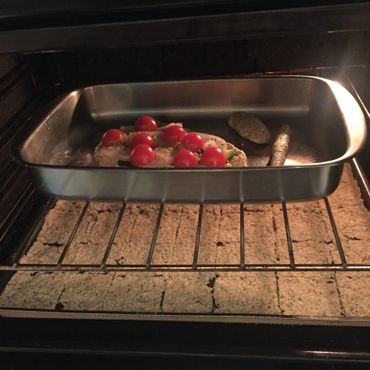 preparación pan sin gluten en horno